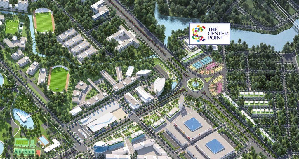 Phối cảnh tổng thể dự án The Center Point