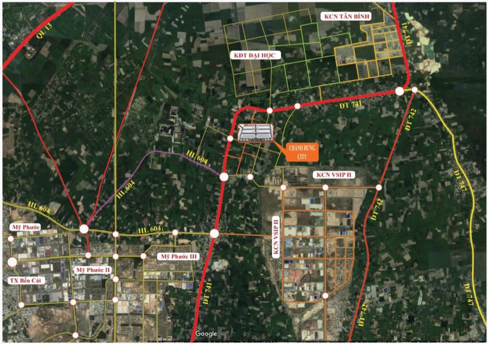 Vị trí dự án Khu dân cư Chánh Hưng