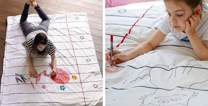Vỏ chăn ga vẽ tay sáng tạo
