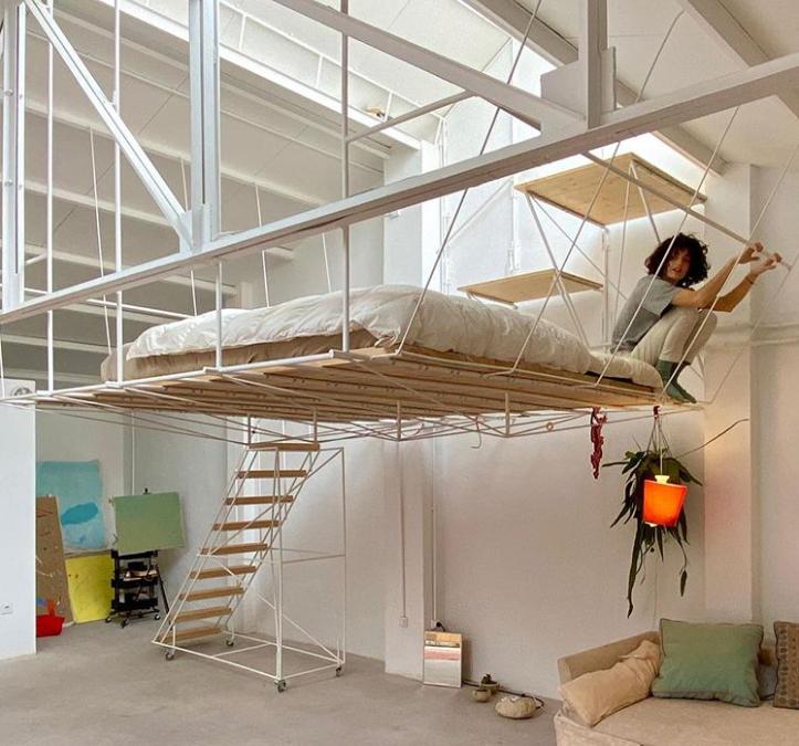 Giường treo tiết kiệm không gian căn hộ nhỏ