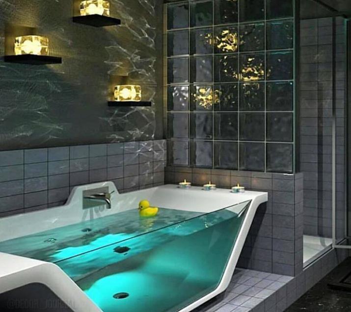 Bồn tắm trong suốt