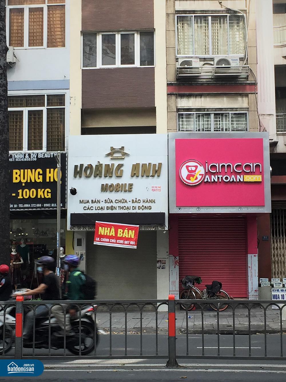 Một chủ nhà mặt phố đường Lê Hồng Phong, quận 10 treo biển bán nhà