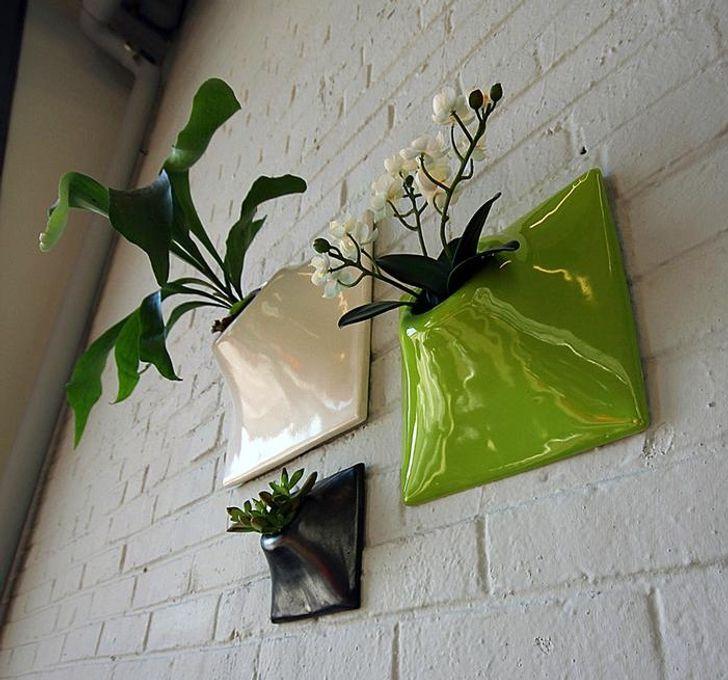 Chậu cây gắn trên tường