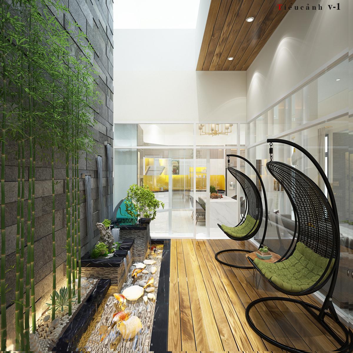 Thiết kế giếng trời trong nhà phố