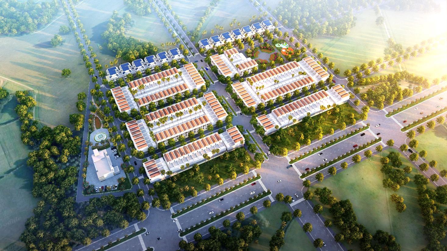 Phối cảnh tổng thể dự án Khu đô thị Quảng Tân