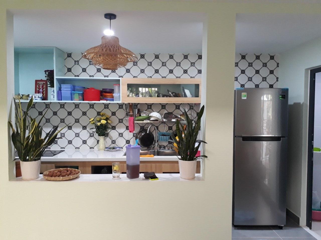 Không gian bếp nhà cấp 4 sau cải tạo