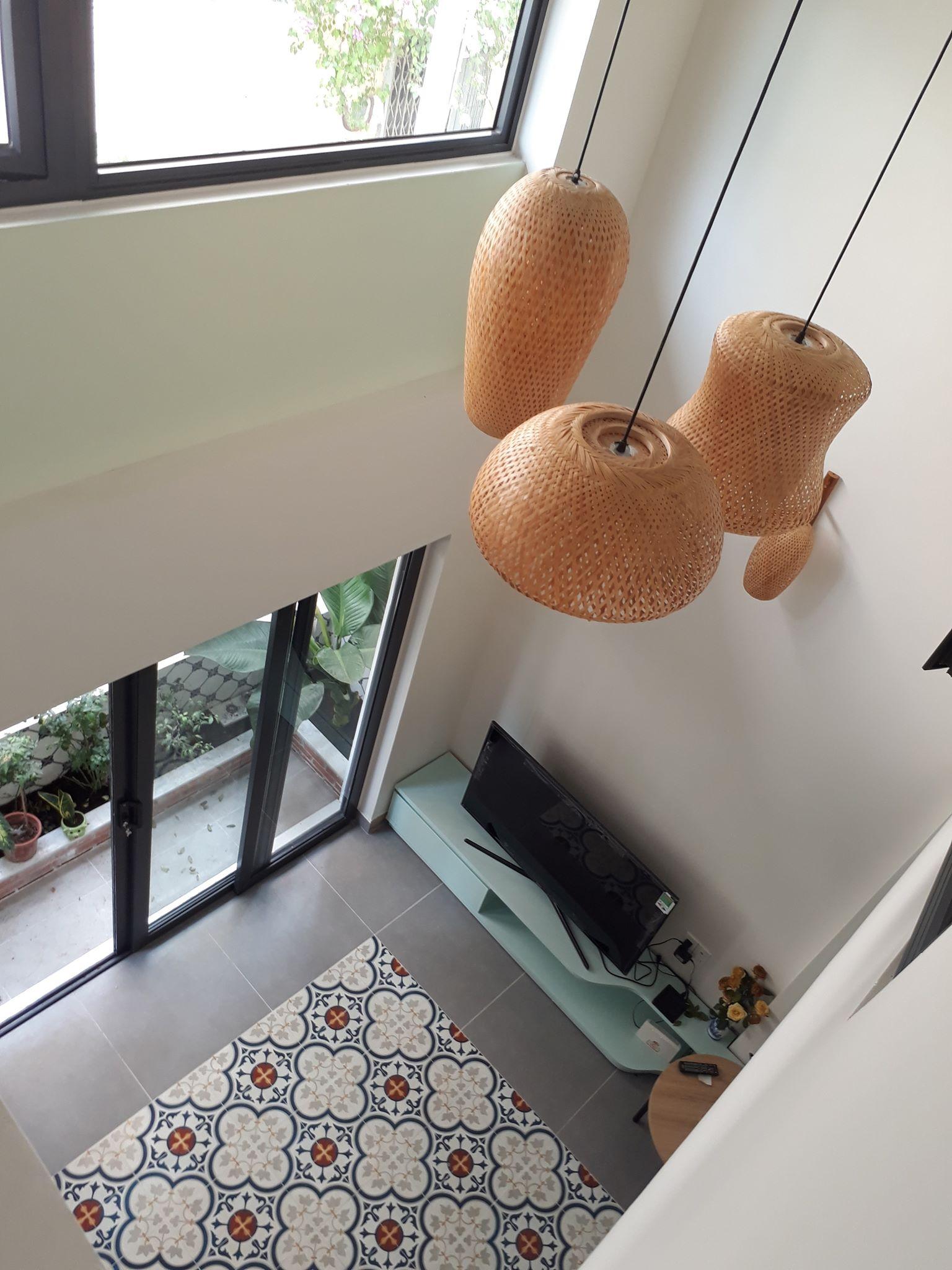 Sàn phòng khách chụp từ trên cao