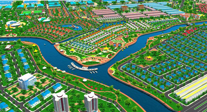 Phối cảnh Khu đô thị sinh thái Sunrise River