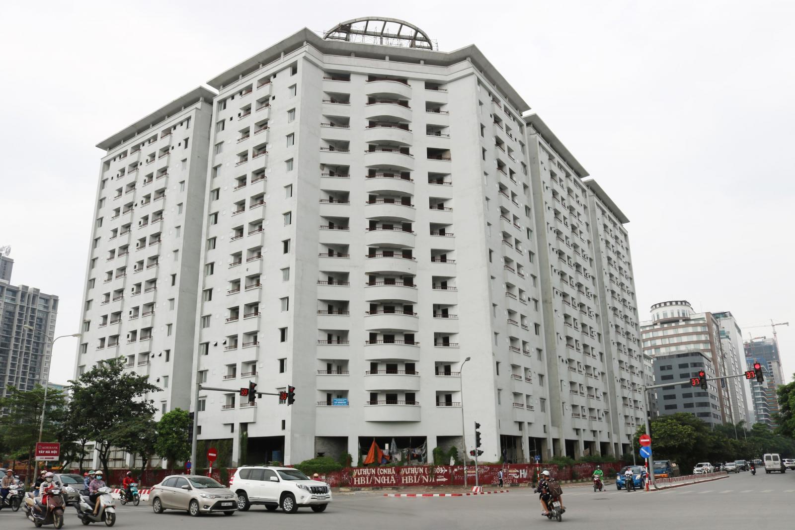 khu nhà tái định cư cao tầng