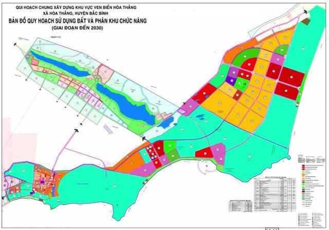 Bản đồ quy hoạch một dự án khu dân cư ven biển