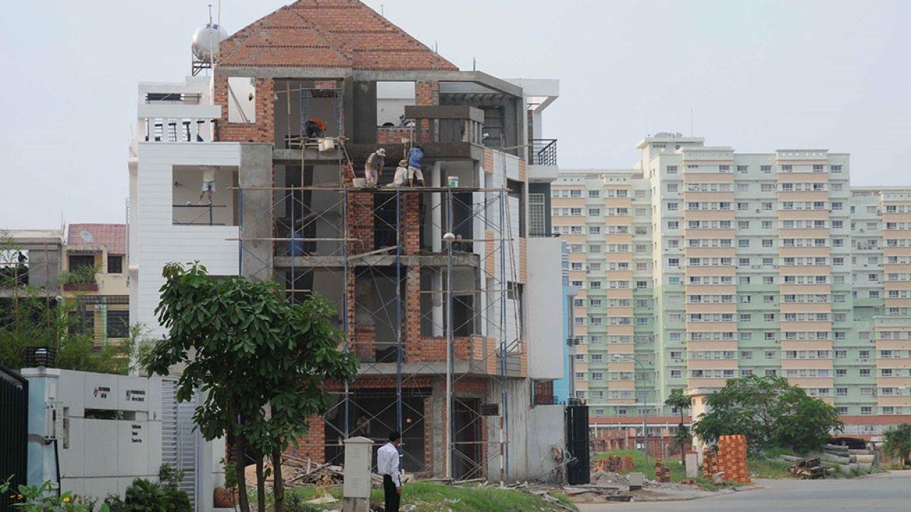 nhà ở riêng lẻ đang xây dựng