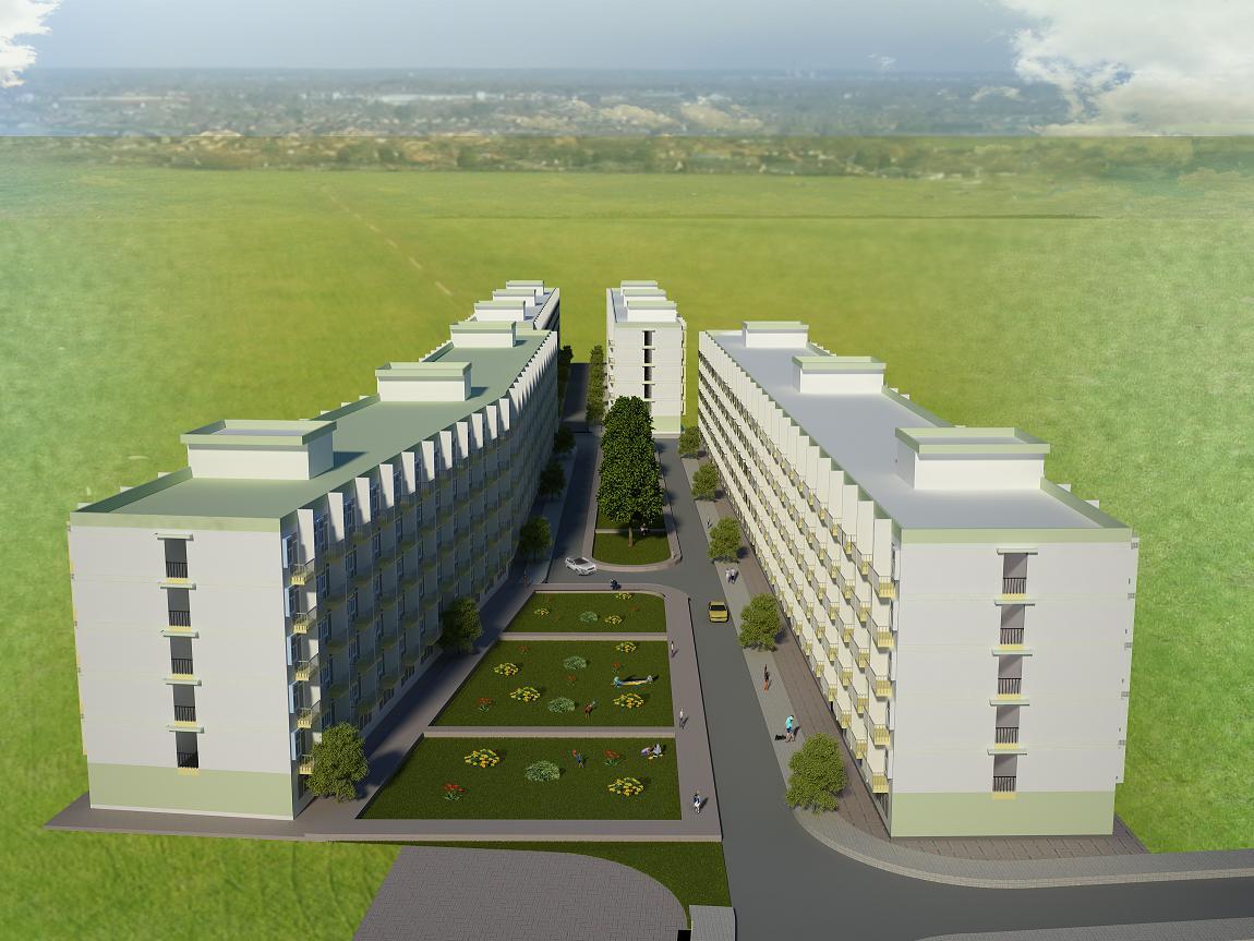 Phối cảnh tổng thể dự án Nhà ở xã hội Lê Thành An Lạc