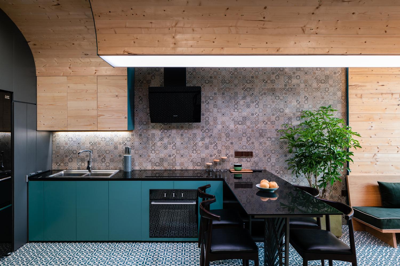 Không gian bếp trong căn hộ