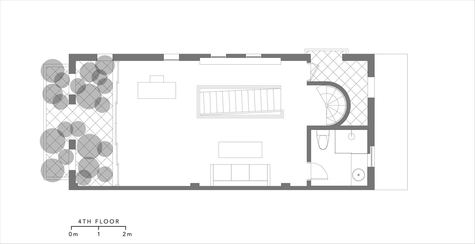 Bản vẽ thiết kế mặt bằng tầng 4