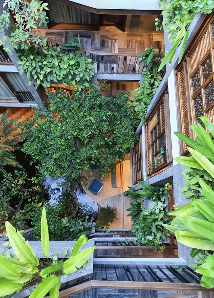 Kiến trúc khách sạn nhiều cây xanh