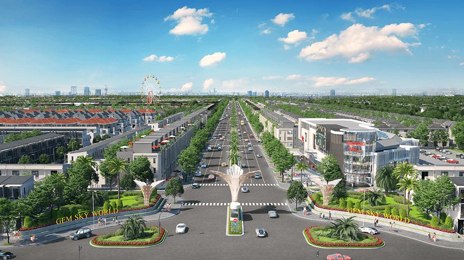 GoldSilk Boulevard rộng 34m với 6 làn xe
