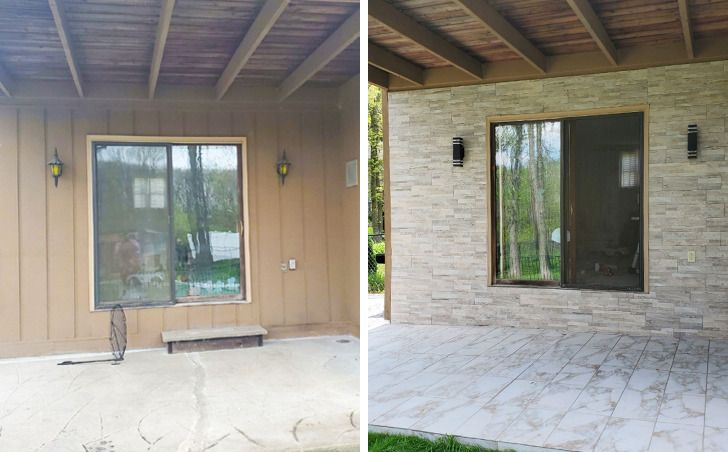 Hiên nhà trước và sau cải tạo