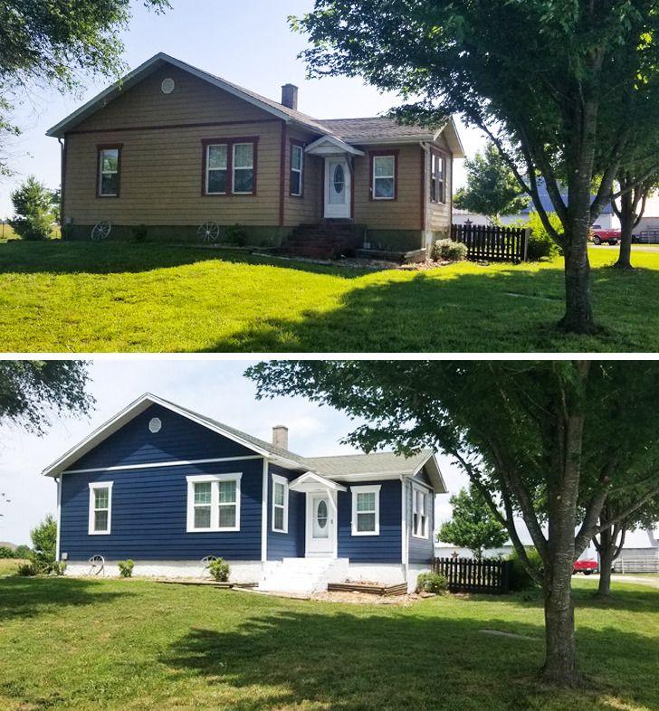 Nhà trước và sau khi sơn lại