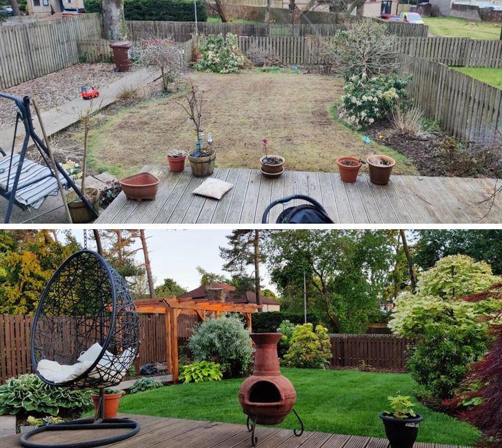 Vườn nhà trước và sau cải tạo