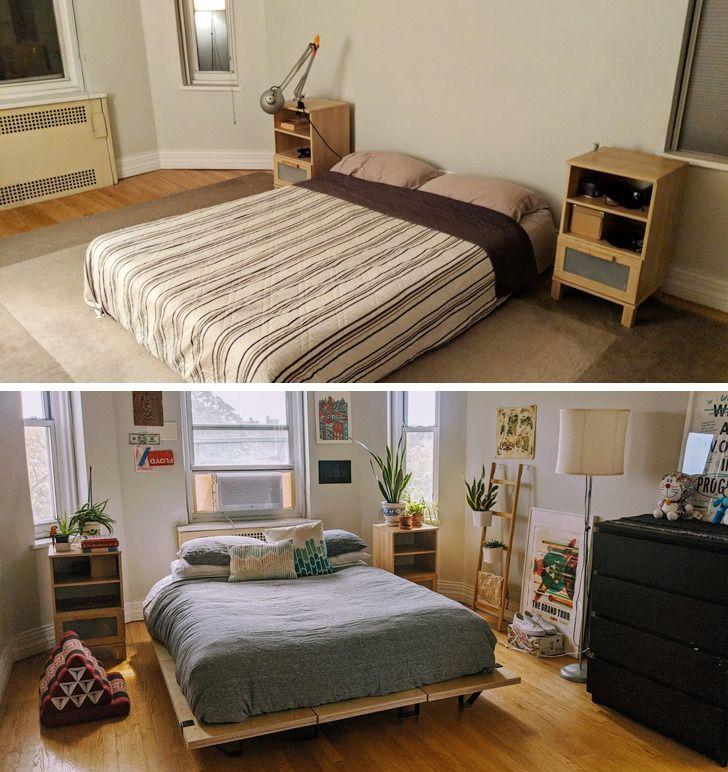 Phòng ngủ trước và sau cải tạo