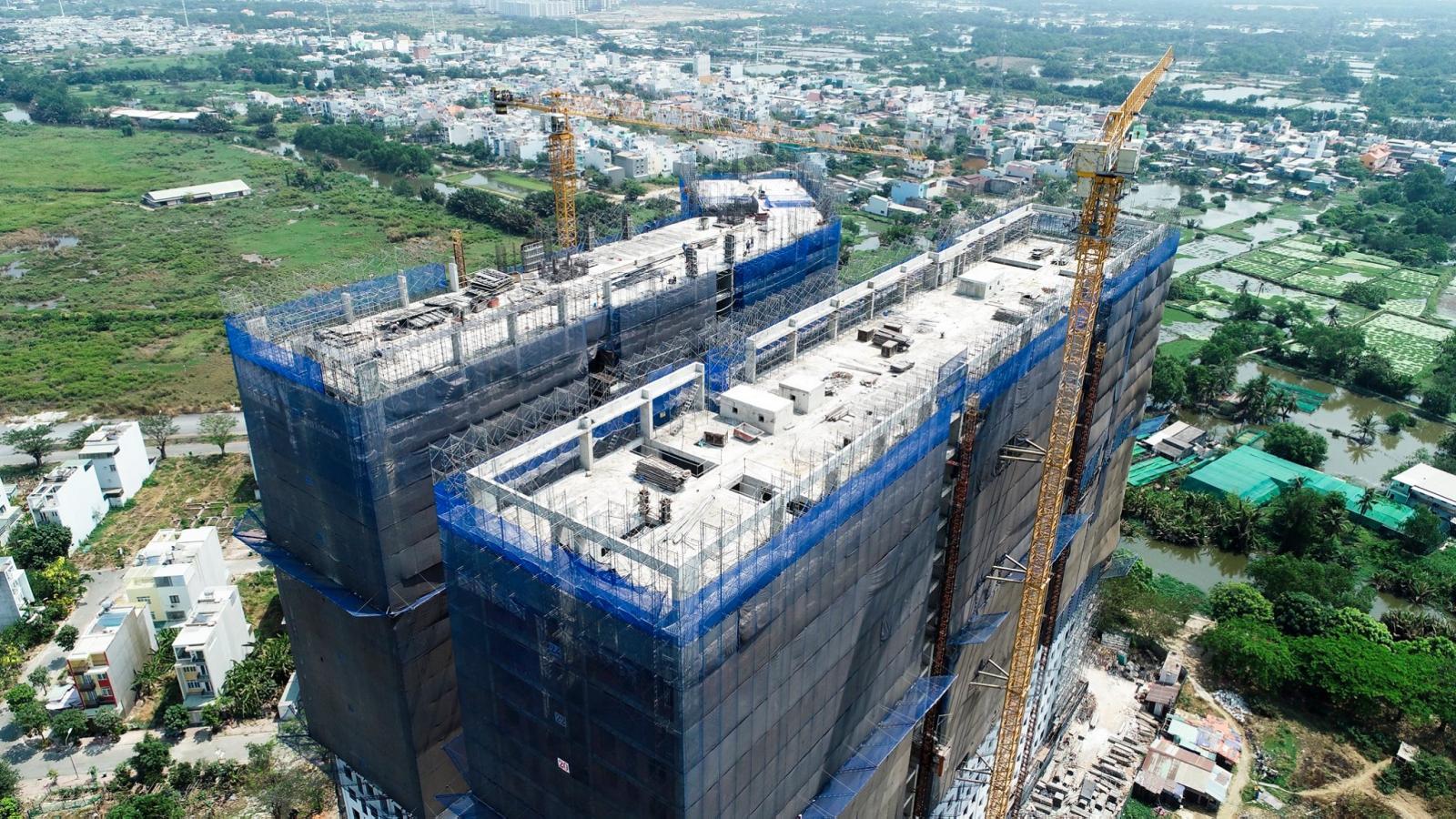 Một dự án nhà ở giá rẻ đang triển khai xây dựng.