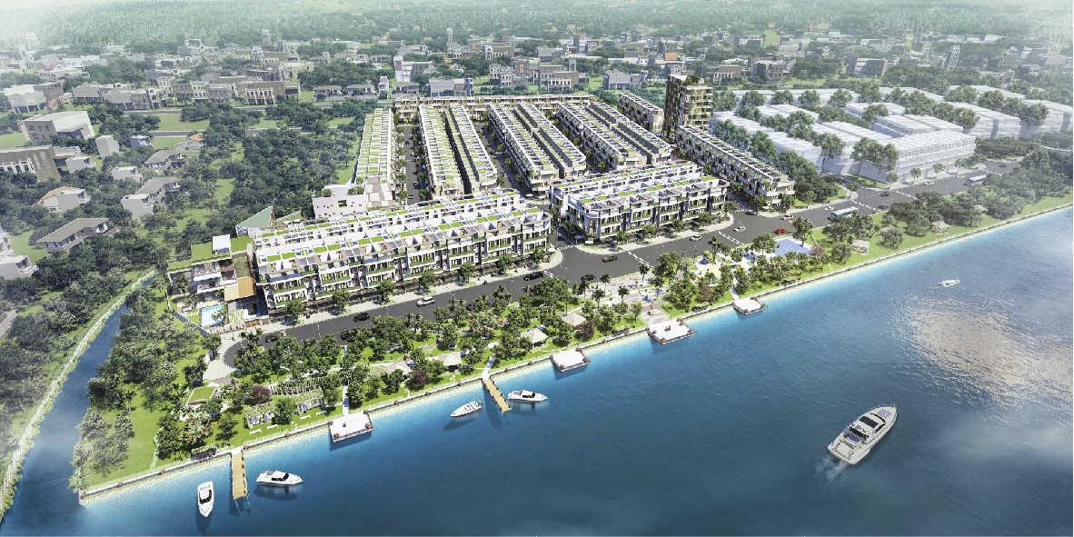 Toàn cảnh dự án BĐS nằm ven sông