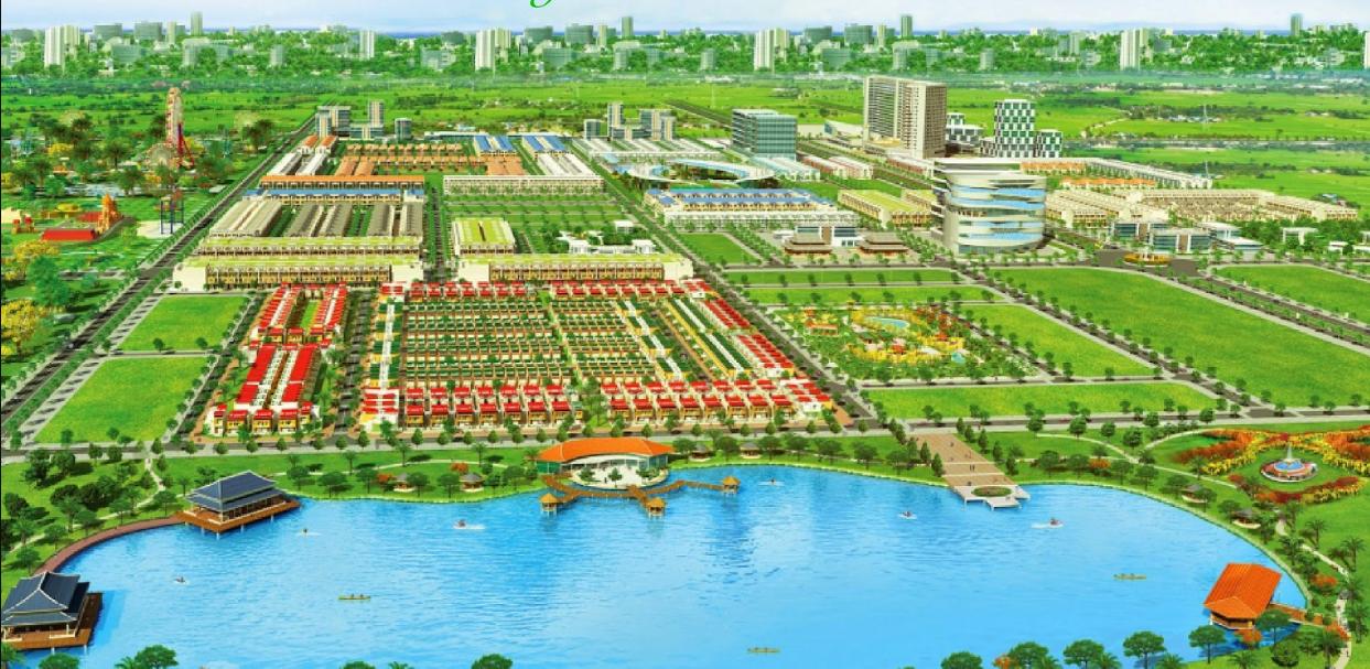 Phối cảnh tổng thể dự án Khu đô thị Hương Sen Garden