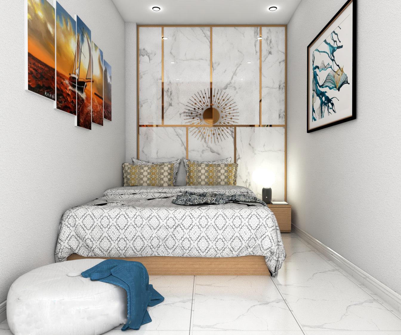 Phối cảnh thiết kế phòng ngủ diện tích nhỏ