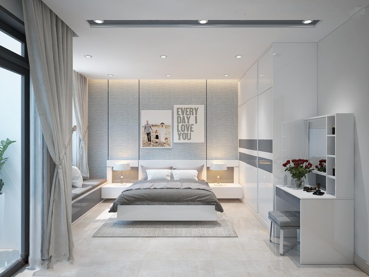 Phối cảnh thiết kế phòng ngủ hiện đại