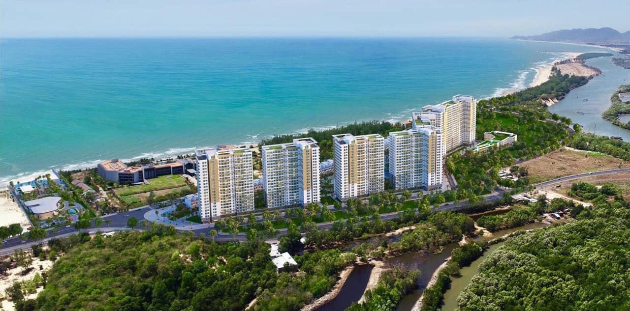 Toàn cảnh một dự án bất động sản nằm ven biển khu vực Hồ Tràm, Vũng Tàu