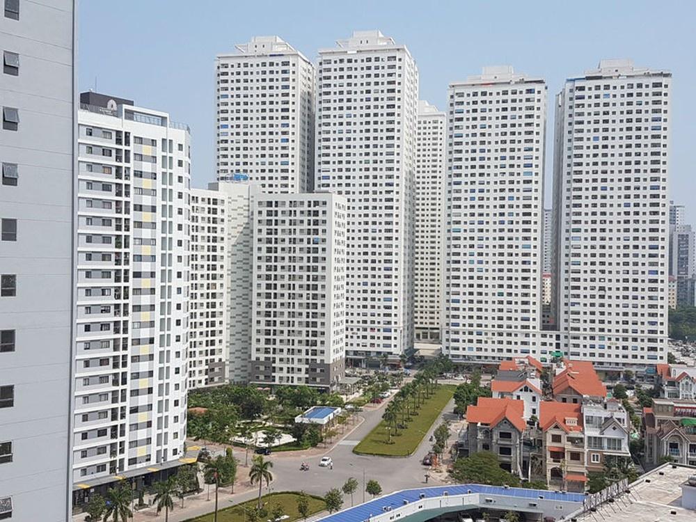 Khu chung cư gồm nhiều tòa nhà cao tầng