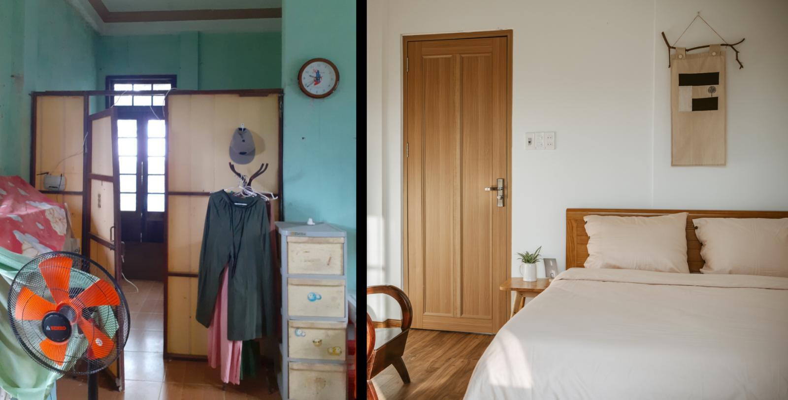 Phòng ngủ ấm cúng sau cải tạo