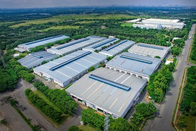Một khu công nghiệp nhiều mảng xanh tại Đồng Nai nhìn từ trên cao