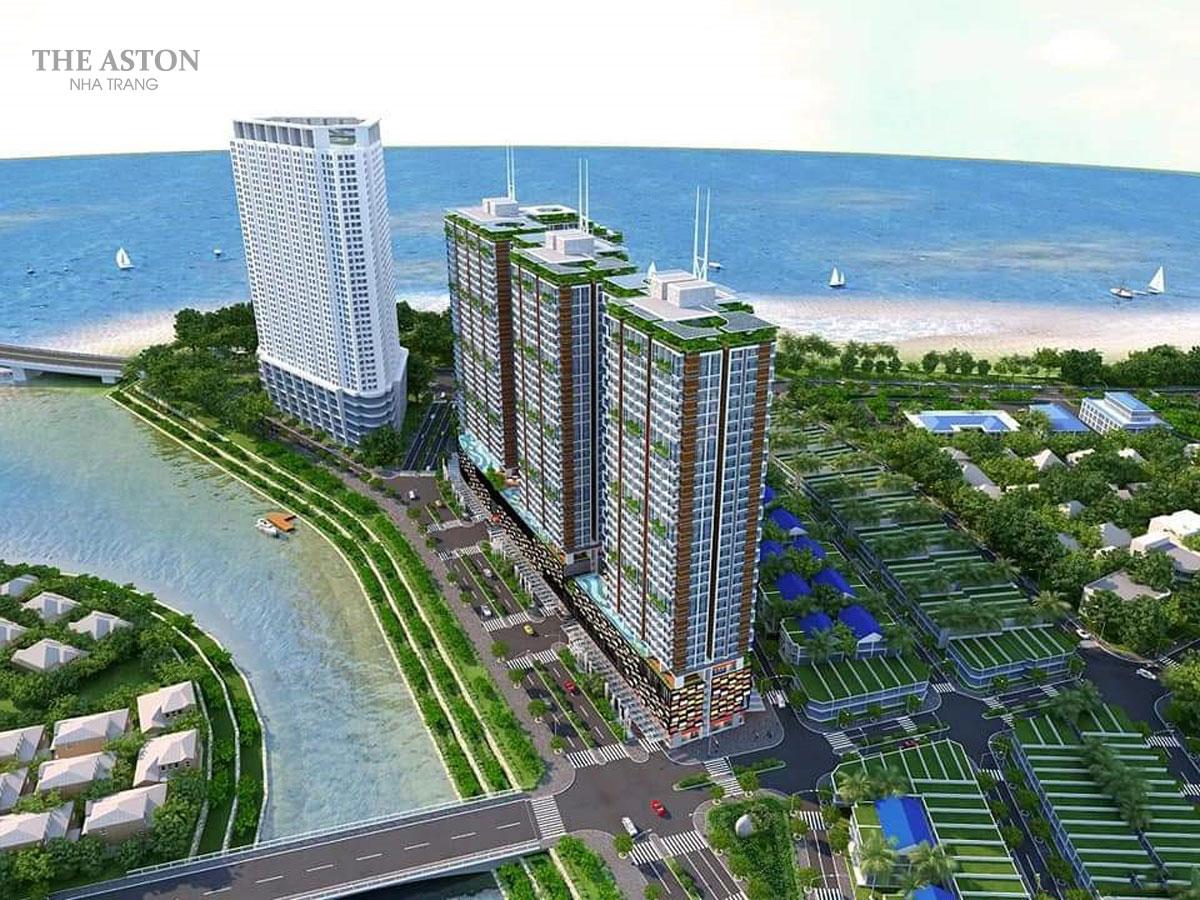 Phối cảnh tổng thể dự án The Aston Luxury Residence Nha Trang