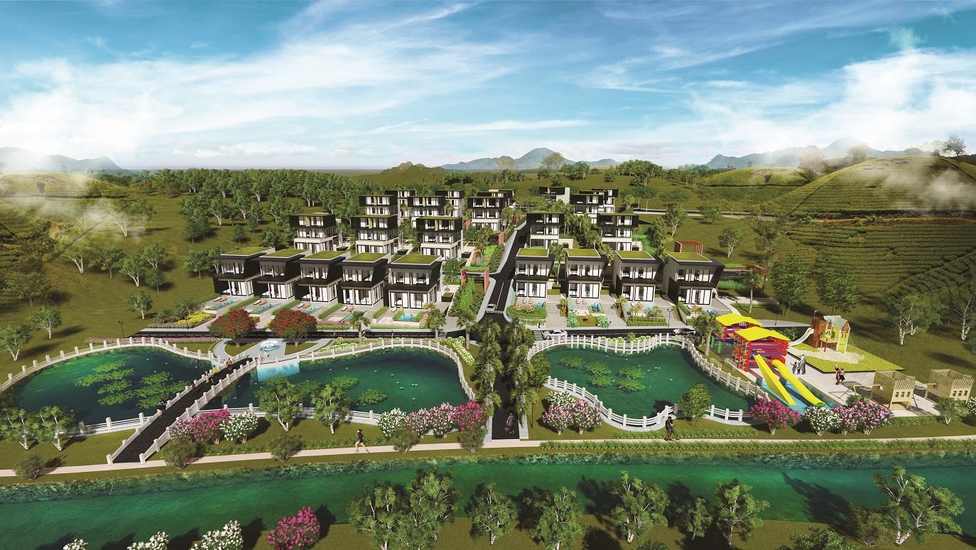 Phối cảnh tổng thể dự án Dambri Hill Village