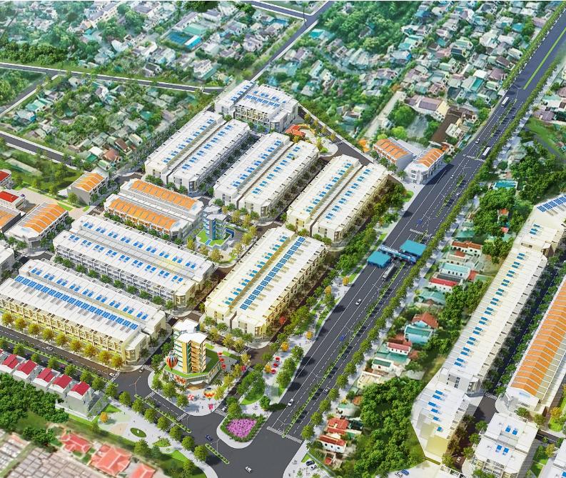 Phối cảnh tổng thể dự án Epic Town Điện Thắng