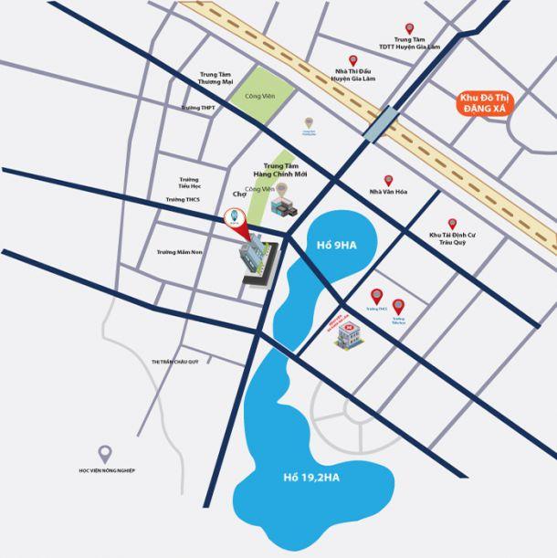Vị trí dự án Hanhomes Blue Star trên bản đồ