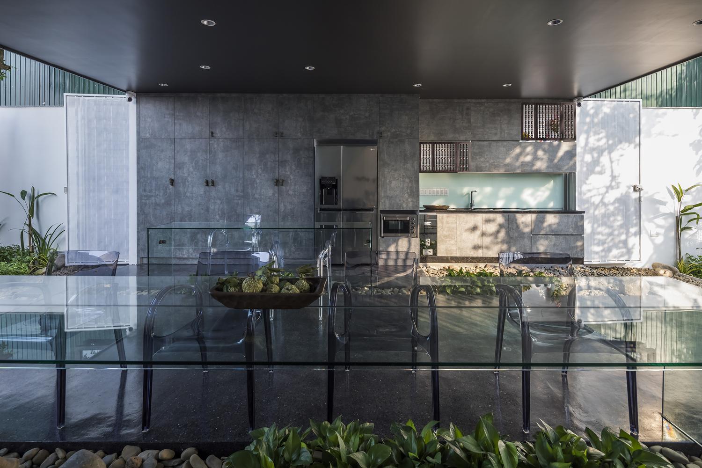 Bếp và không gian sinh hoạt chung