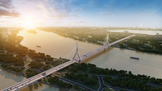 cầu dây văng bắc qua sông