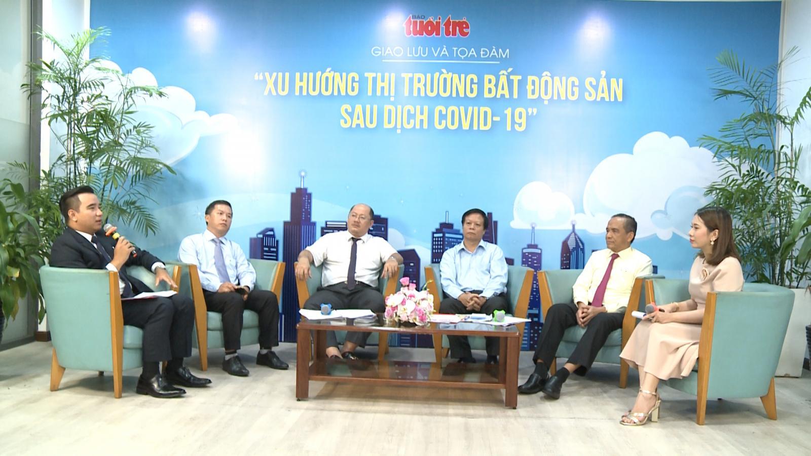 Hình ảnh tại buổi tọa đàm về bất động sản vùng ven của báo Tuổi Trẻ