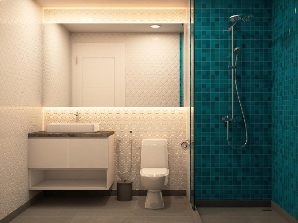 Thiết kế nội thất phòng tắm căn hộ