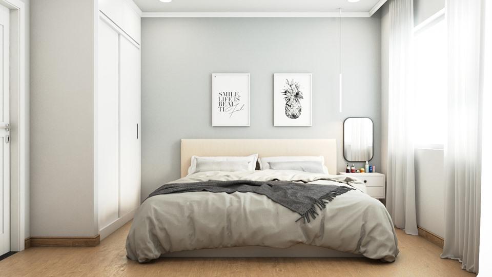 Thiết kế nội thất phòng ngủ căn hộ