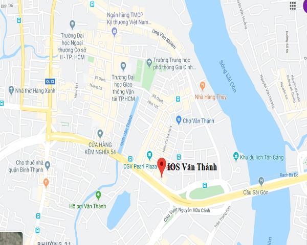 Vị trí dự án IOS Building Văn Thành
