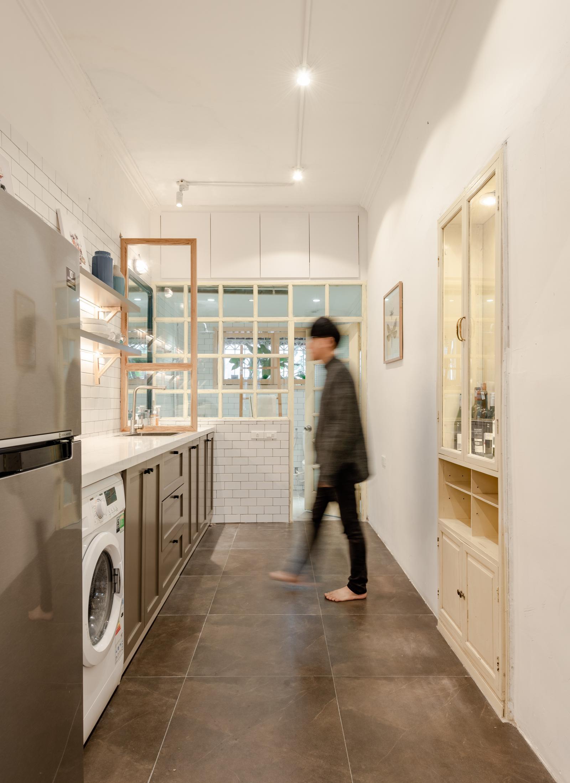 Không gian bếp sau cải tạo