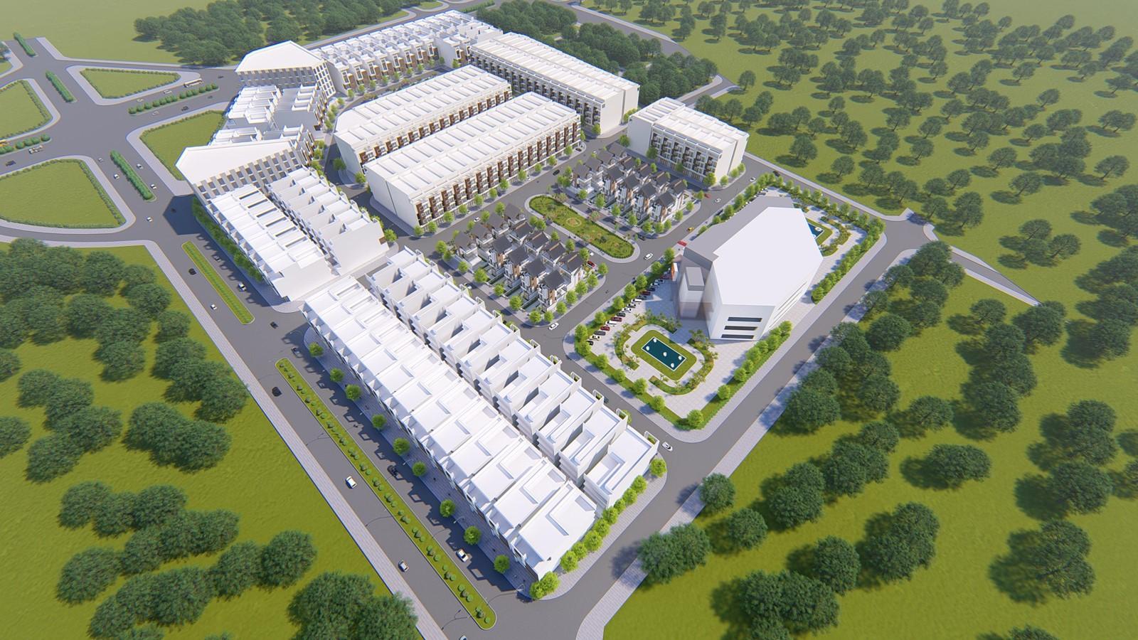 Phối cảnh tổng thể dự án Khu đô thị An Phú