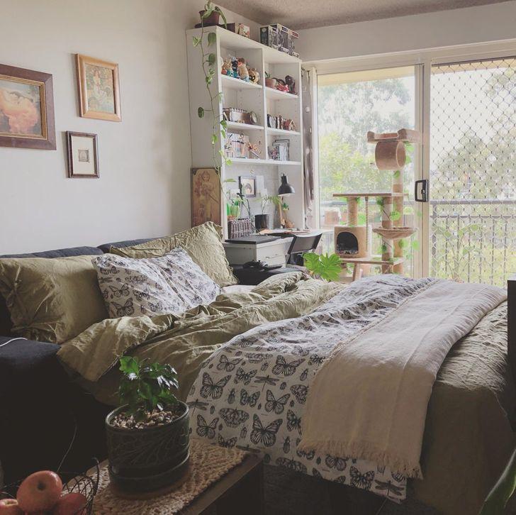 Phòng ngủ nhỏ thiết kế đẹp, thoáng mát