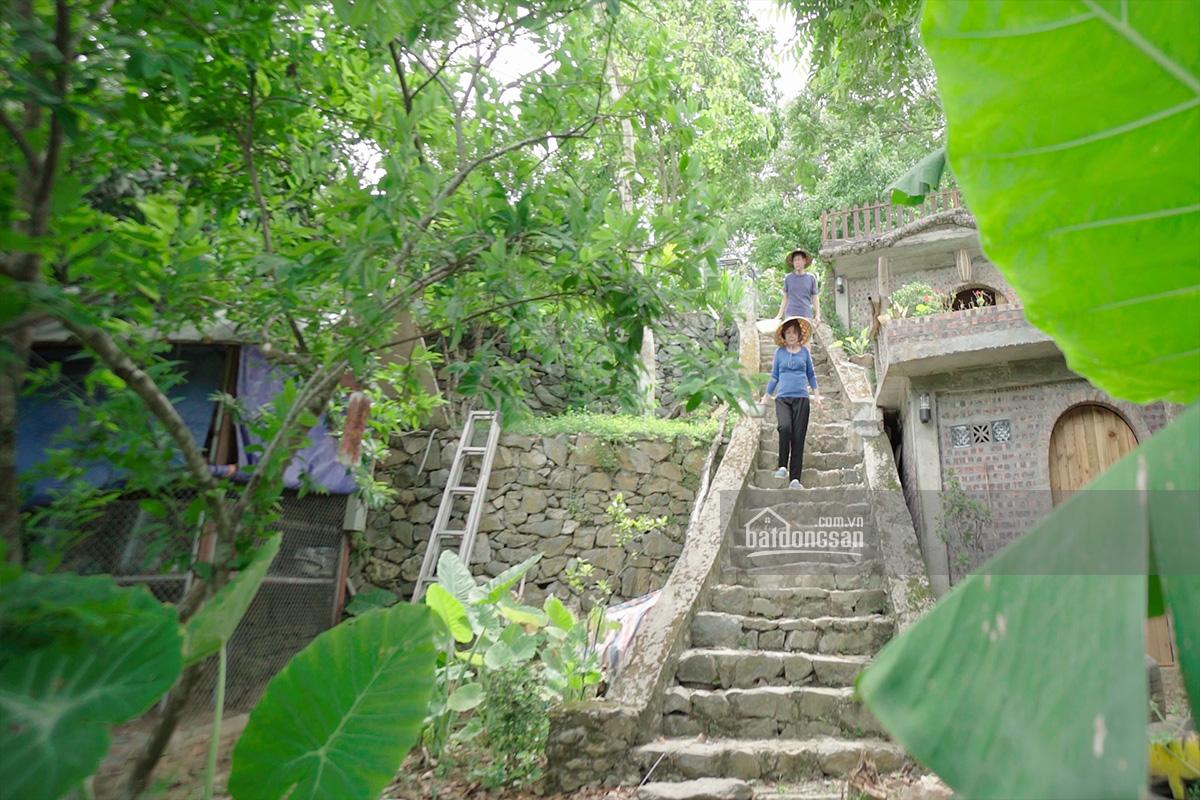 Bậc thang dẫn lên ngôi nhà trên đồi