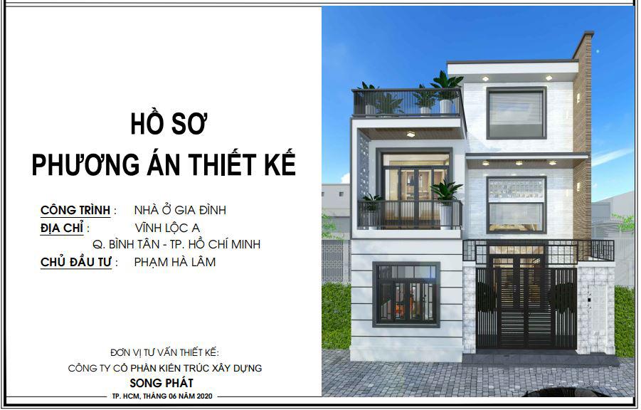 Hồ sơ phương án thiết kế nhà