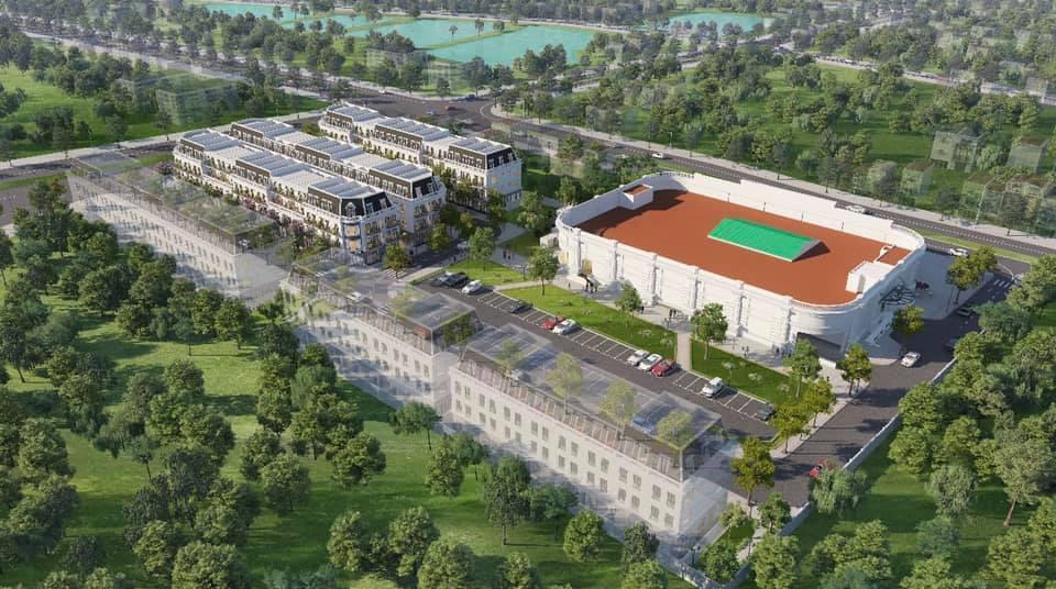 Phối cảnh tổng thể dự án Vincom Shophouse Thái Hòa