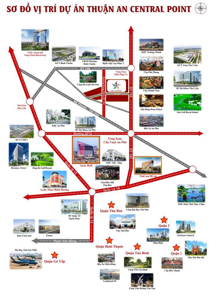 Vị trí dự án Thuận An Central Point trên bản đồ